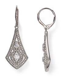 Nadri | Metallic Pavé Leverback Earrings | Lyst