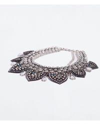 Zara | Gray Long Jewelled Necklace | Lyst