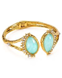 Alexis Bittar | Green Elements Crystal Studded Spur Trimmed Amazonite Hinge Cuff | Lyst
