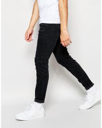 DIESEL - Jeans Stickker 844v Super Skinny Stretch Soft Black for Men - Lyst