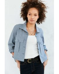 BDG | Blue Olivia Swing Shirt Jacket | Lyst
