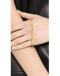 Fallon Metallic Studded Palm Cuff Bracelet