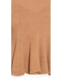 3.1 Phillip Lim Brown Sleeveless Flare Top - Camel