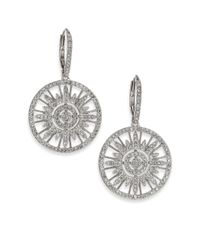 Adriana Orsini | Metallic Radiance Pavé Crystal Circular Drop Earrings | Lyst