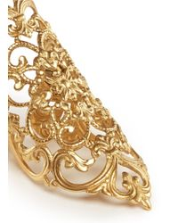 Ela Stone - Metallic 'dentelle' Lace Filigree Ring - Lyst