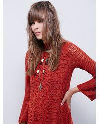 Free People | Orange Womens Rosalind Mini Dress | Lyst
