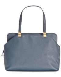 Tommy Hilfiger | Blue Victoria Saffiano Large Satchel | Lyst