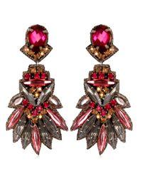 Suzanna Dai | Purple Tikal Drop Earrings, Plum/fuchsia | Lyst