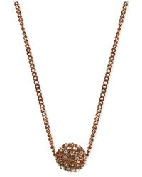 Givenchy | Pink Rose Gold-tone Crystal Fireball Pendant Necklace | Lyst
