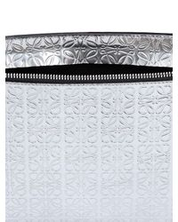 Loewe Embossed Metallic Leather Pouch