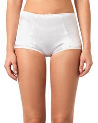 Dolce & Gabbana White Stretch-Satin High-Waisted Briefs