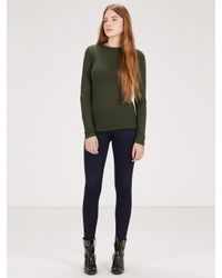 Warehouse Natural Luxe Crew Neck Jersey Top