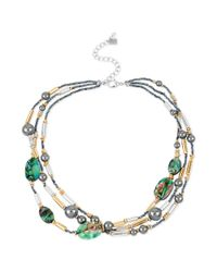 Robert Lee Morris - White Glass Pearl and Bead Multirow Necklace - Lyst