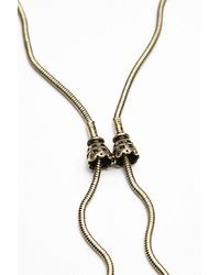 Free People | Metallic Snake Chain Charm Bolo | Lyst