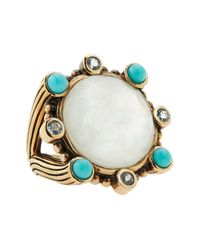 Stephen Dweck - Blue Mother Of Pearl & Natural Quartz Doublet Ring - Lyst
