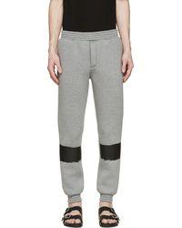 Kris Van Assche Gray Grey Painted Stripe Lounge Pants for men