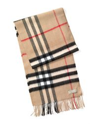 Burberry | Natural Heritage Check Cashmere Scarf for Men | Lyst