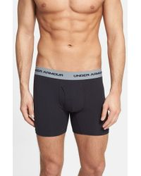 Under Armour Black Charged Cotton Boxer Briefs, (3-pack) for men