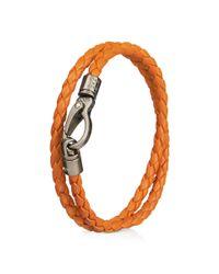Tod's   Orange Mycolors Bracelet In Leather for Men   Lyst