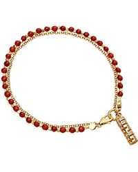 Astley Clarke | Red 18ct Yellow Gold-plated, Gemstone And Diamond Happiness Biography Bracelet | Lyst