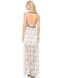 Free People | Multicolor Cherry Blossom Maxi Dress - Spring Garden Combo | Lyst