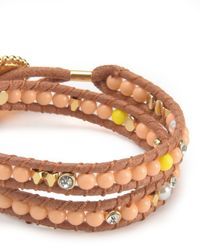 Juicy Couture | Multicolor Double Wrap Beaded Bracelet | Lyst