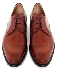 Stemar | Brown Perugia Leather Derby Shoes for Men | Lyst