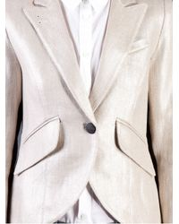 Smythe Natural Tuxedo Stripe Equestrian Blazer