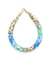 Peppercotton | Blue Sea Strand Swarovski Crystal Bracelet | Lyst