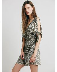 c1d91a631d5 Free People Once Upon A Time Summertime Playsuit in Green - Lyst