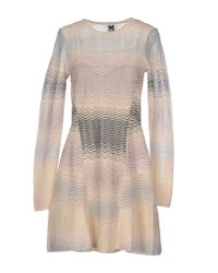 M Missoni - Natural Short Dress - Lyst