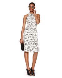 kate spade new york   Pink Leopard Dot Tie Back Dress   Lyst
