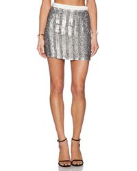 MLV - Metallic June Sequin Skirt - Lyst