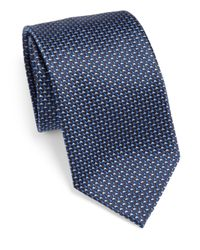 Armani - Blue Jacquard Classic Tie for Men - Lyst