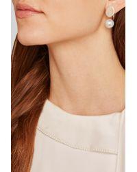Chloé Metallic Darcey Gold-tone Swarovski Pearl Earrings