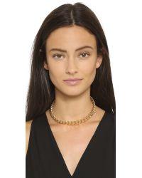 Gemma Redux | Metallic Chain Choker Necklace - Gold | Lyst