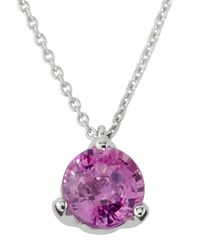 Roberto Coin - Pink Sapphire Pendant Necklace - Lyst