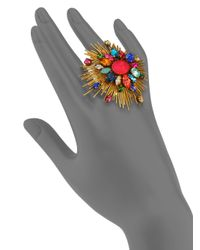 Erickson Beamon | Multicolor Telepathic Crystal Ring | Lyst