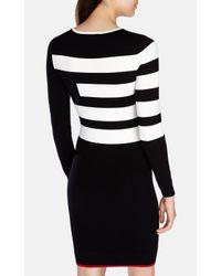 Karen Millen - Multicolor Block Stripe Stretch Knit Dress - Lyst