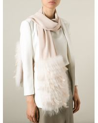 Yves Salomon - Natural Feather Down Scarf - Lyst