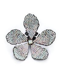 Rosie Assoulin Black Oversized Flower Earrings
