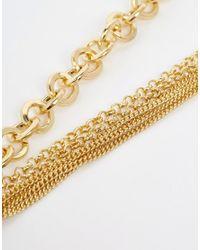 Ashiana - Metallic Statement Body Chain - Lyst