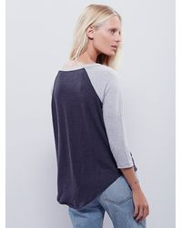 Free People - Gray We The Free Sail Away Tee - Lyst