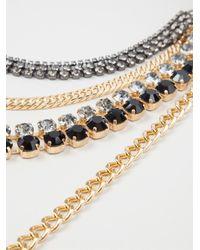 Marni - Metallic Multi Chain Collar Necklace - Lyst