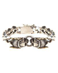 King Baby Studio - Gray Skull Link Bracelet - Lyst