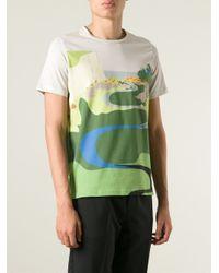 J.W.Anderson | Multicolor Landscape Print T-Shirt for Men | Lyst