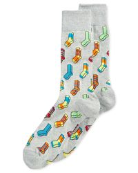 Hot Sox | White Socks-on-socks Crew Socks for Men | Lyst