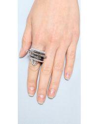 Eddie Borgo Metallic Tuareg Ring Set - Silver
