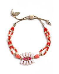 Kent & King - Red Crystal Cluster Bracelet - Lyst