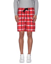KENZO - Red Bermuda Shorts for Men - Lyst